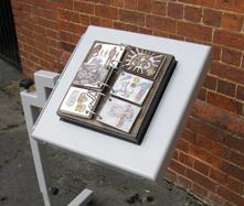 Flip book in table