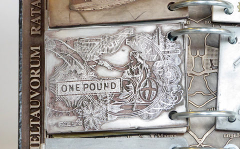 Flip book pound note detail