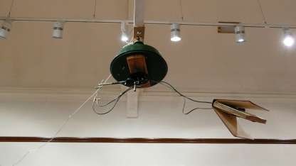 Flying book at the gallery