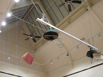 Flying book installation