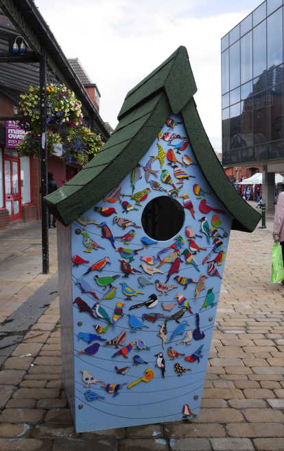 Big ArtBirdBox at Oldham Flower Festival